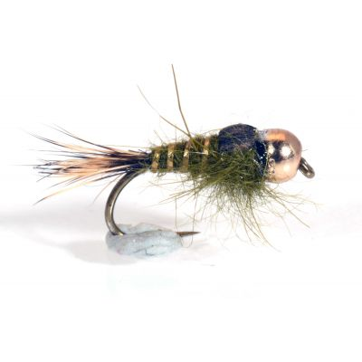 Tungsten Gold Ribbed Hare's Ear - Olive # 14